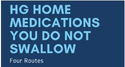 Four Alternate Medication Routes for HG Moms #DoNotSwallow